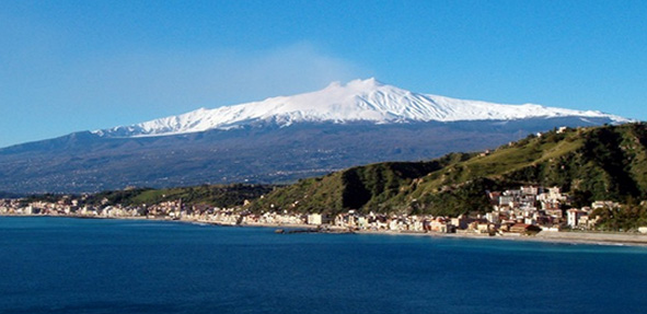 Etna seen from the sea