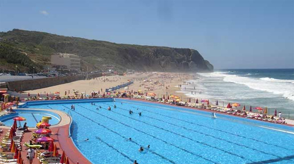 Hotel pool and the PG beach.jpg