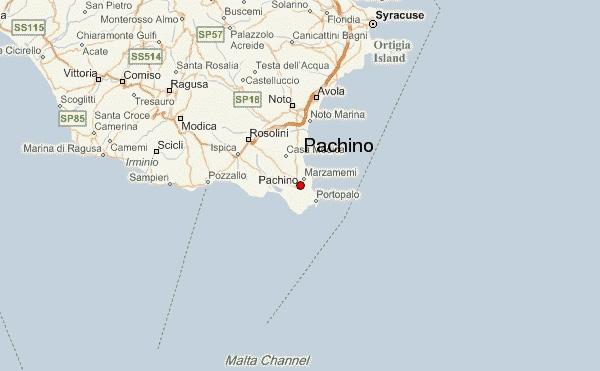 Pachino kartalla