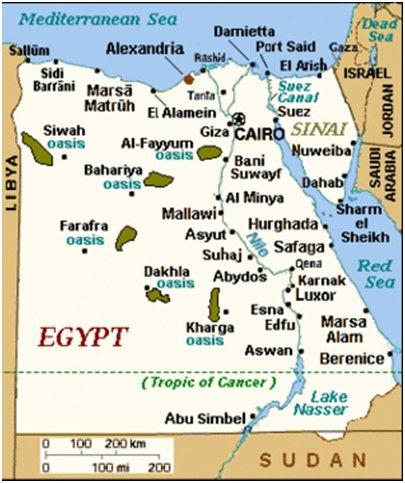 Egyptikartta
