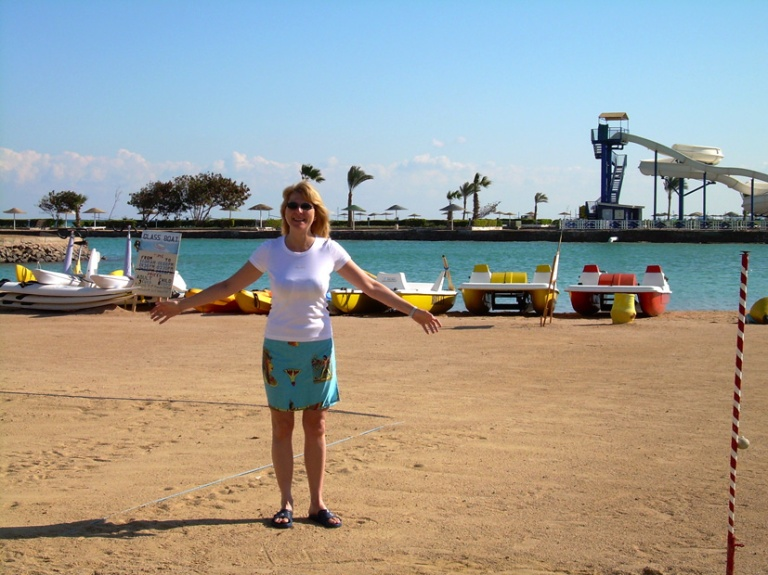 Hurghada beach_lets rent a paddle boat