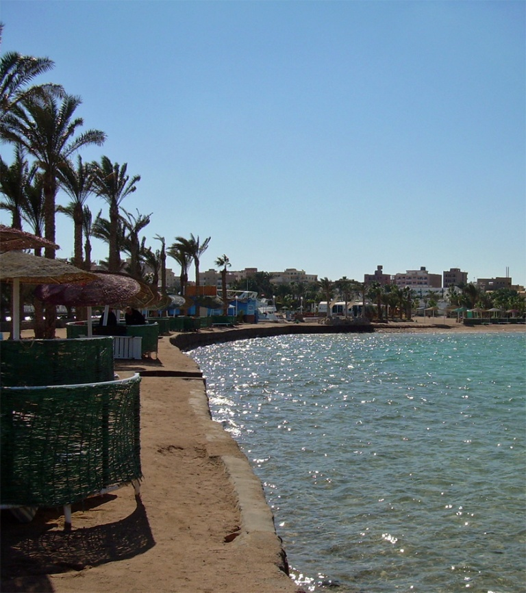 Hurghada seen from the beach