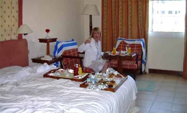 Breakfast from room service_10 dollars_cheers