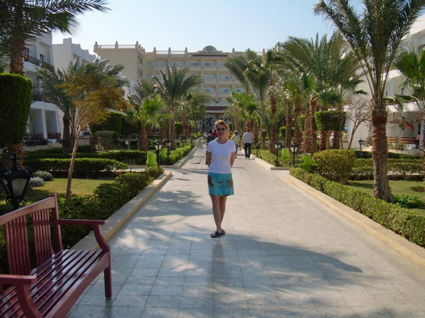 Hurghada JH in the hotel back yard
