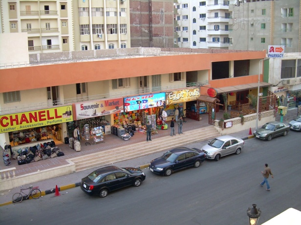Hurghada streets and cars