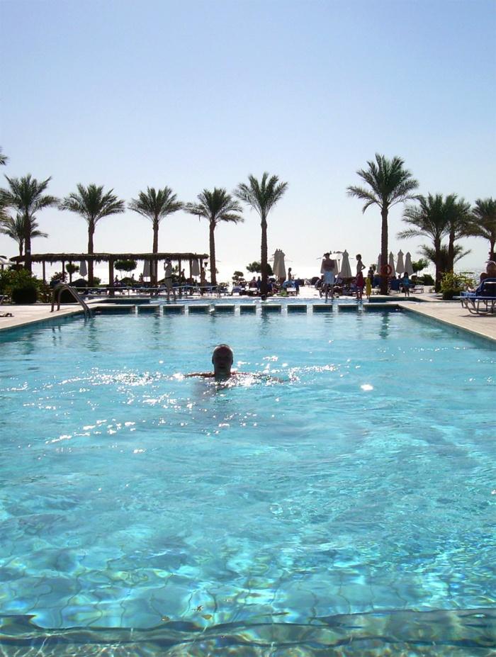Sharm El Sheikh_Altaan vesi oli kylmää ja piristävää
