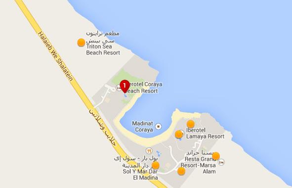 Coraya Bay Egypt_map of the bay area