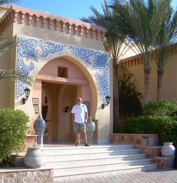 Coraya Bay Egypt_entrance to the Iberotel Coraya Beach Hotel
