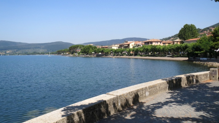 Trevignano city_view of the lake