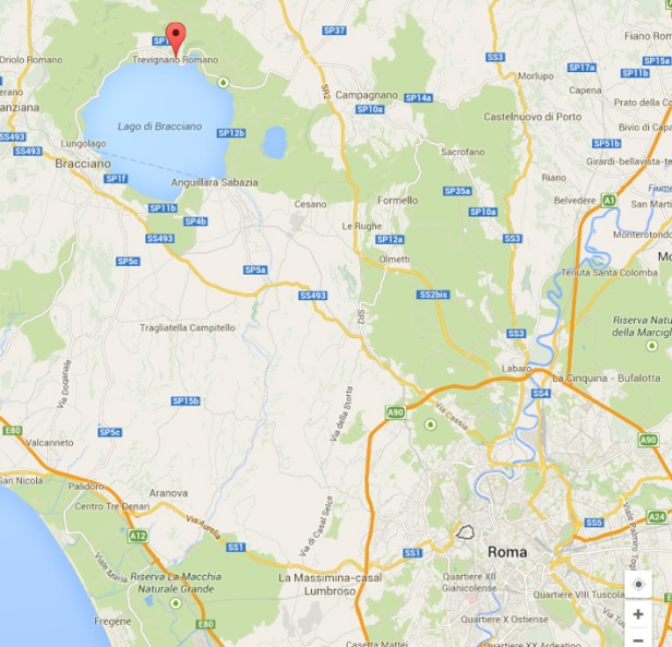 Trevignano on the map