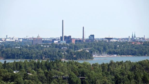 View from Haikaranpesä Espoo all the way to Helsinki