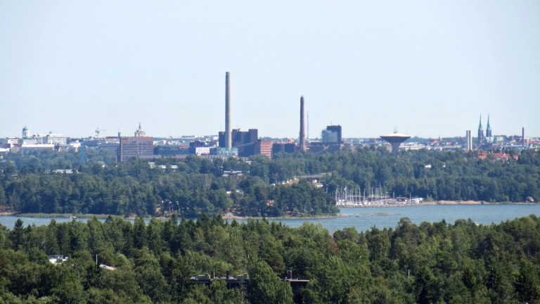 View from Haikaranpesä Espoo all the way to Helsinki