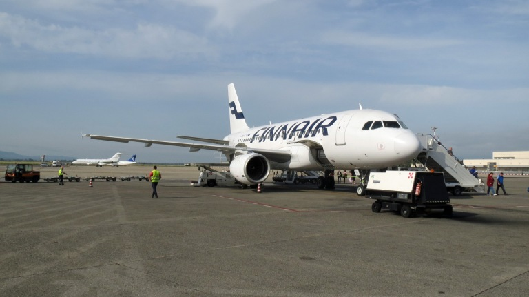 Finnair flight has arrived at Pisa