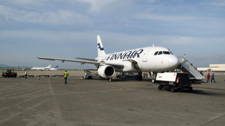Finnair flight has arrived at Pisa