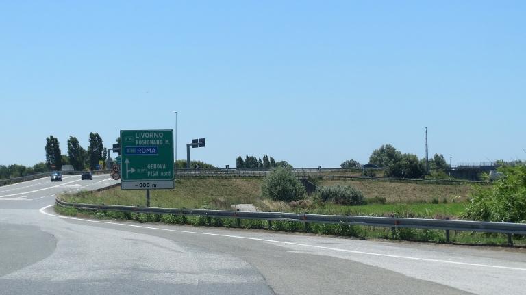 Pisa__Roma Livorno highway