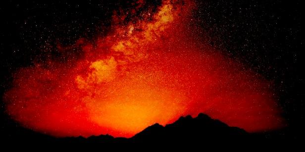 Last Moments Of Sahara Sunset
